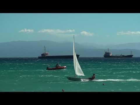 High Wind Laser Sailing - 18 Knots!