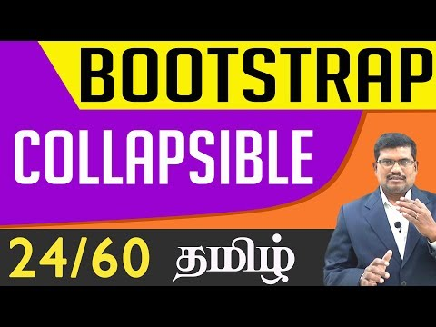 #24 Collapsible || Bootstrap In Tamil (In Tamil)