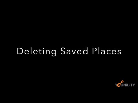How to Delete your Saved Places