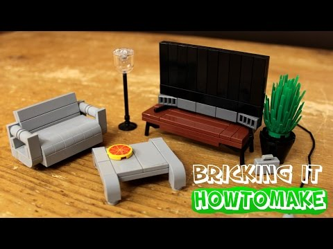 How To Make LEGO Modern Living Room Furniture (2.0, MOC, Basic)