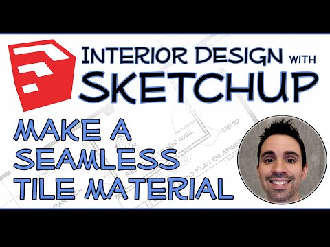 Interior Design with SketchUp - Make a Seamless Tile Material