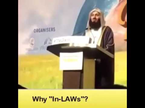 Why in Laws ? By mufti ismail menk