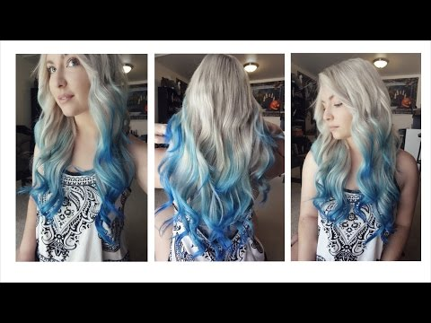 How I Dyed My Hair Blue Ombre Balayage