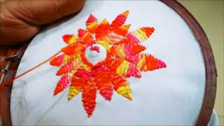 Herringbone Stitch (Filling Flower Videos - 9tube tv