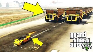 أدهشتني شاحنة الرمل العملاقة في قراند 5 ضد سيارة الصاروخ   GTA V ROCKET VOLTIC VS DUMP TRUCK