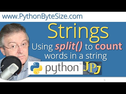 Python Using the split() method to count words in a string.