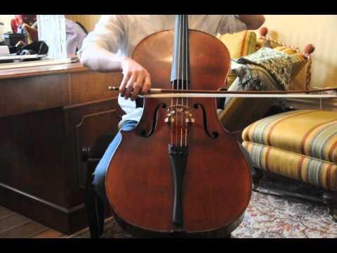 French cello Ch.Neveu 1906 for sale at www.cello.se