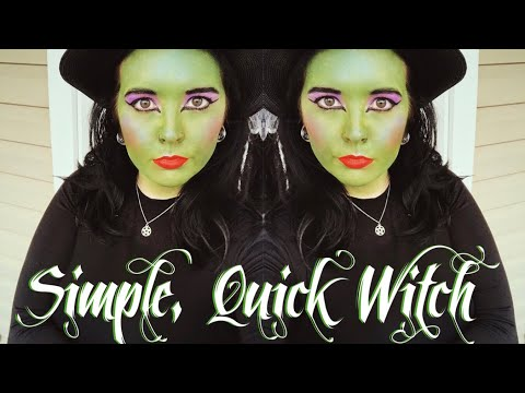 🧙🏻♀️ Classic Green Witch - Full Face Paint/Makeup