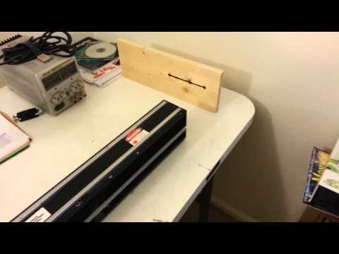 Testing a 40W CO2 Laser by burning wood