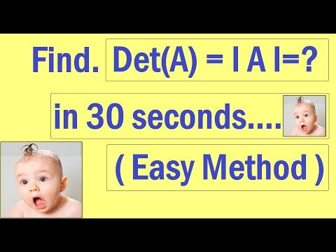 Determinant of 3X3 Shortcut ! How  to find determinant of matrix