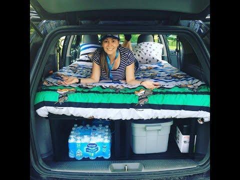DIY cheap easy minivan caravan camper conversion