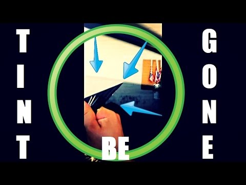 How to Remove Window Tint with a Razor Blade and Water