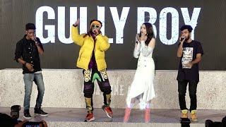 Live Ranveer Singhs Amazing Rap On Asli Hip Hop Song At Gully Boys Trailer Launch