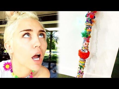 Miley Cyrus Crafts DIY 5 Foot Bong!