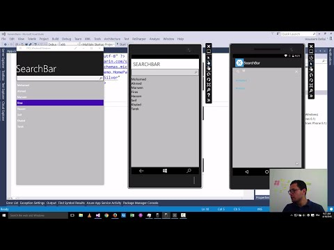 Xamarin Forms with Visual Studio Part 27 [SearchBar]