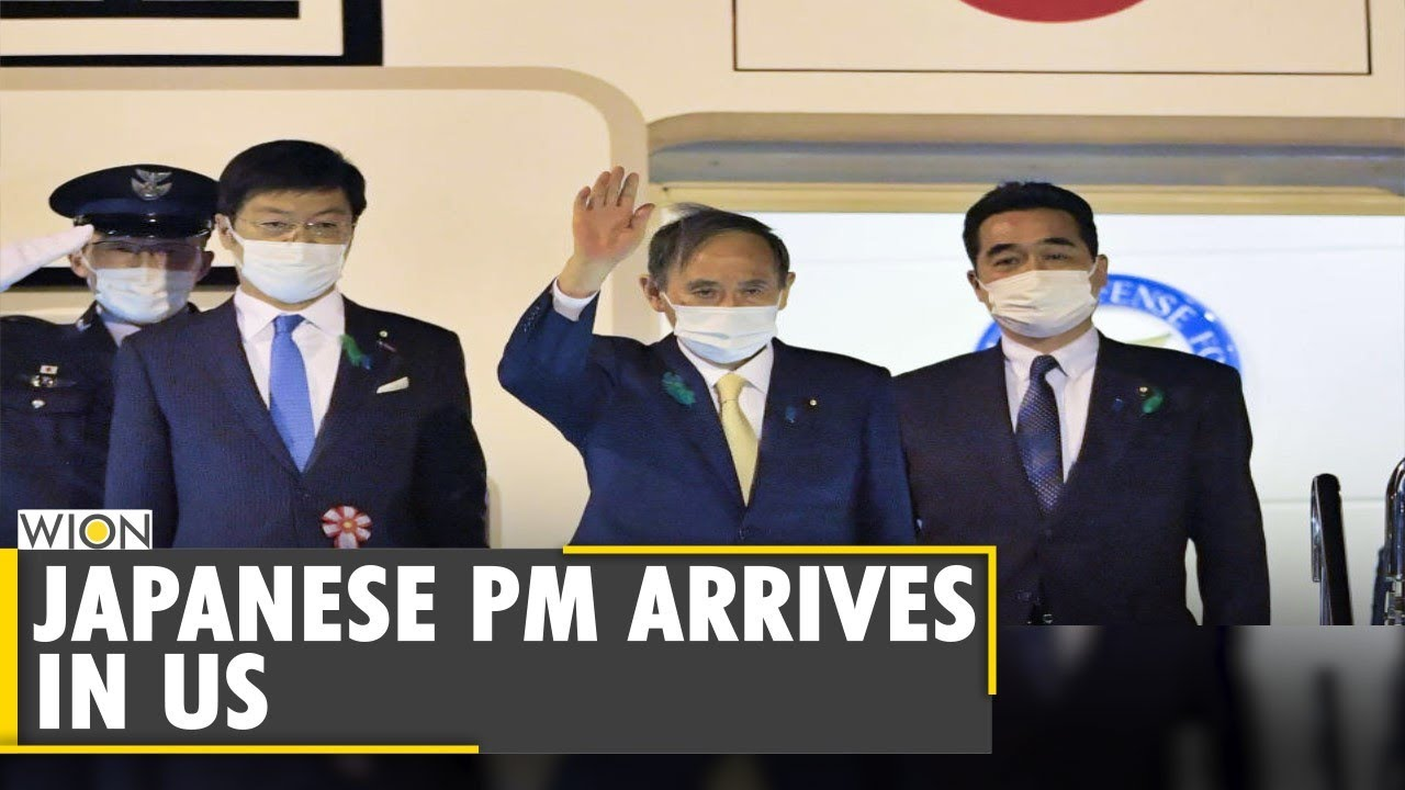 Japanese Prime Minister Yoshihide Suga arrives in US | Joe Biden | Japan-US | Latest English News
