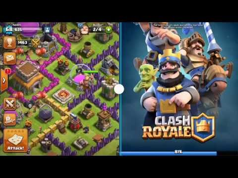 multi window on my samsung galaxy s4 GT-I9500 full working, clash of clans X clash royale