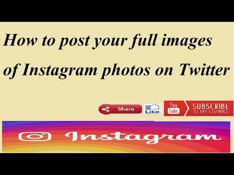 How to post your full images of Instagram photos on Twitter