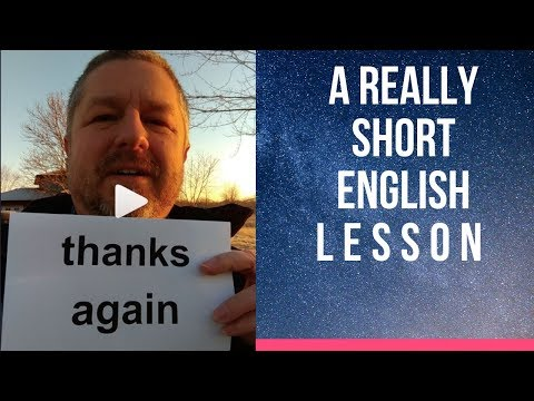 Xxx Mp4 Meaning Of THANKS AGAIN A Really Short English Lesson With Subtitles 3gp Sex