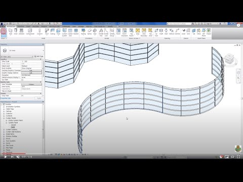 Revit Tips - Curved Curtain Wall