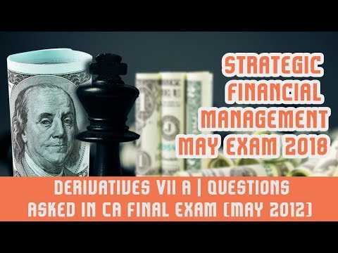 Derivatives VII A | Questions Asked in CA Final Exam (May 2012)