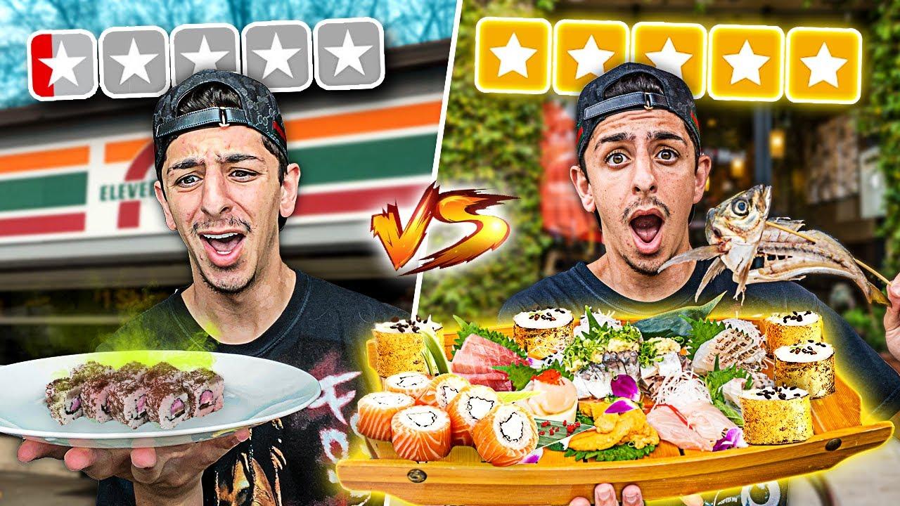 $1 Sushi VS $500 Sushi... **huge mistake**