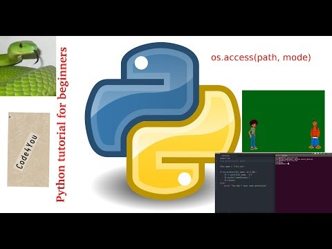 file access in python|| os.access||Python Tutorial #19 || Python Tutorial for Beginners