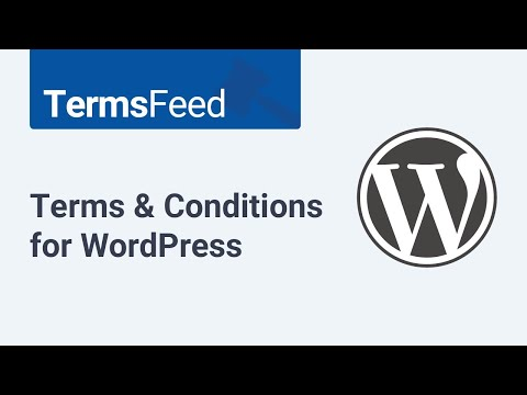 Terms and Conditions for WordPress