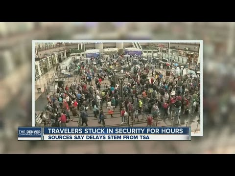Travelers stuck in TSA security for hours at DIA