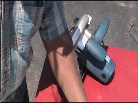 Circular saw: 2 blades in 1 cut plastic and wood (PVC)