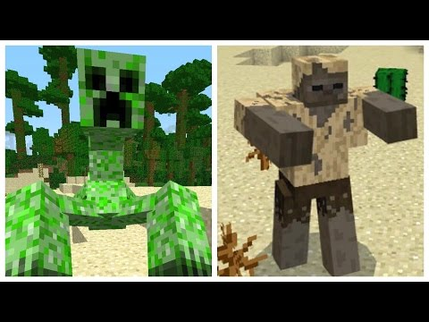 ✔️GIANT MONSTER MOBS! // Minecraft Pocket Edition mutant mobs mod / addon! [MCPE 1.0.2]
