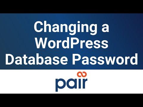 Changing a WordPress Database Password