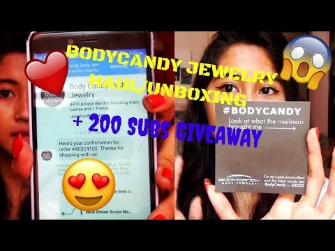 BODYCANDY Jewelry Haul/Unboxing/Review // + 200 SUBS INDIAN GIVEAWAY
