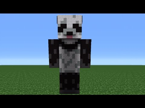 Minecraft 360: Giant Panda Statue Tutorial (Battle and Beasts Skin Pack)