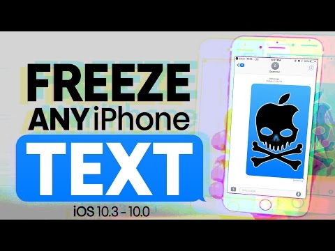 Freeze ANY iPhone With a Blank Text! iOS 10.3 - 10.0