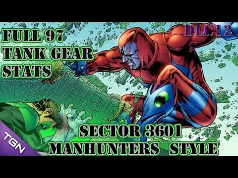 DCUO: Sector 3601 | Manhunters Style | Full 97 Tank Gear  *DLC12*