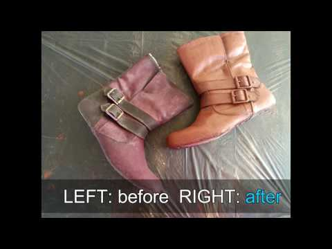 how to recolour your suede shoes with acrylic paint