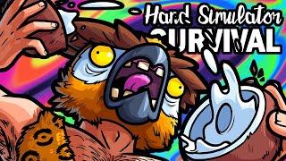 Hand Simulator Survival Funny Moments - Hardcore Island Survival!