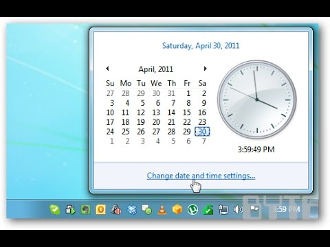 How To Change Date & Time in Windows 7/XP/ Vista [ English ]