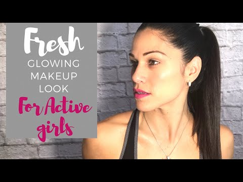 Fresh Glowing Makeup Look For Active Girls