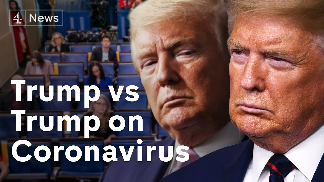 Trump vs Trump on Coronavirus: the US President's changing tone in just a few weeks