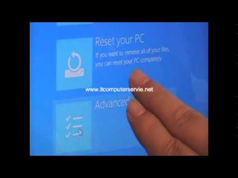 Windows 8  Restore Process - Toshiba Satellite  Laptop