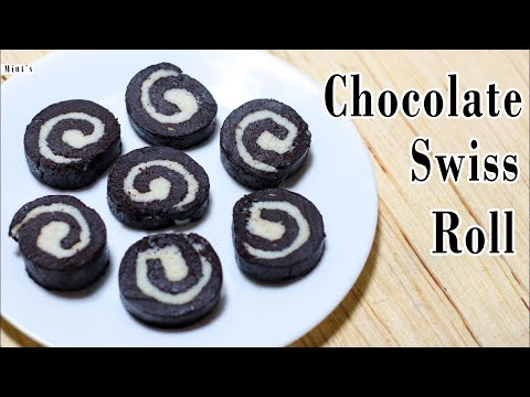 स्विस रोल बनाइये घर पे आसानी से |  No Bake Chocolate Swiss Roll | Chocolate Swiss Rolls Recipe