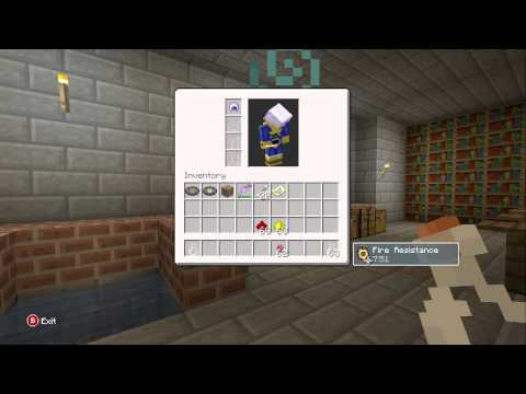Minecraft:Xbox 360 Edition: Potion Of Fire Resistance Tutorial