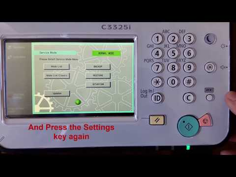 How to enter the Service Mode on a CanonimageRUNNER ADVANCE series