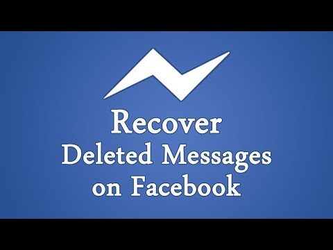 How to recover deleted facebook messages  2018