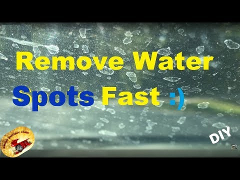 Remove Calcium Water Spots on Glass PERMANENTLY !!