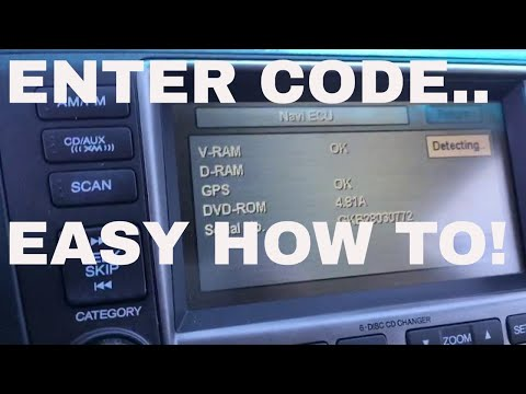 How to find and reset the navigation code in Honda and Acura vehicles. (Most models) EASY!