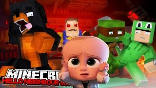 Minecraft BABY HELLO NEIGHBOUR - THE NEIGHBOUR ROBBED THE BOSS BABIES BRIEFCASE - Donut the Dog