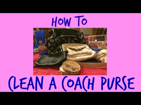 How to clean a coach purse